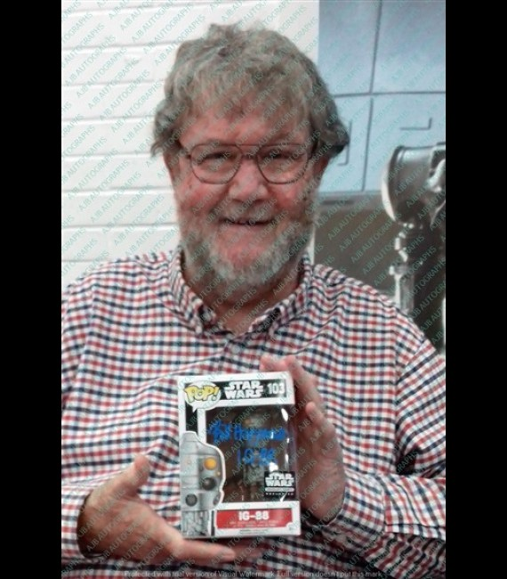 IG88 #103 Smuggler's Bounty Exclusive Funko Pop Signed By Bill Hargreaves