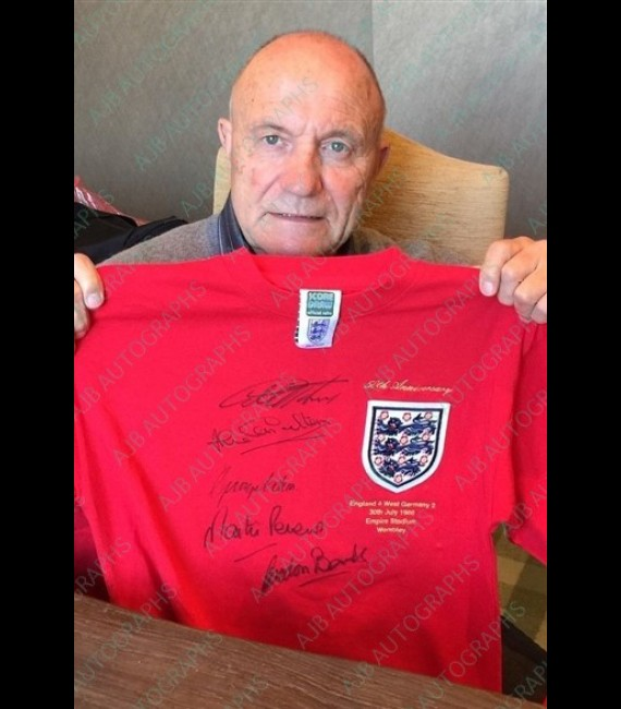 1966 WORLD CUP 50TH ANNIVERSARY SHIRT SIGNED X 7