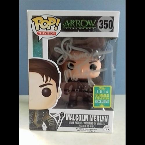Malcolm Merlyn #350 Pop Signed By John Barrowman