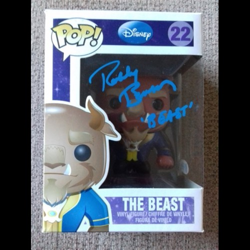 Beauty and the Beast - Beast Pop #22 Signed By Robby Benson