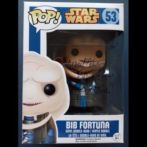 Bib Fortuna #53 Funko Pop Signed By Michael Carter