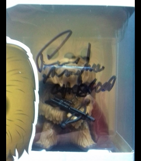 Chewbacca #63 Force Awakens Pop Signed By Peter Mayhew
