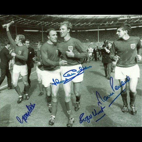 England 1966 winning team signed by four