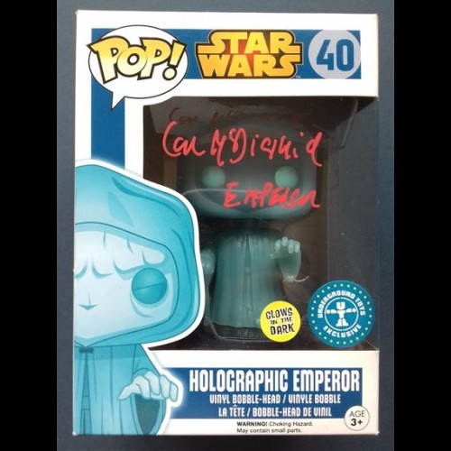 Holographic Emperor (Glows in the Dark) #40 Exclusive Signed By Ian Mcdiarmid