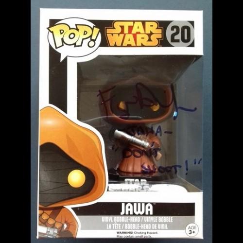 Jawa #20 Star Wars Pop Signed By Frazer Diamond