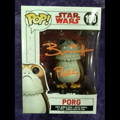 Porg #198 Star Wars Episode VIII: The Last Jedi Funko Pop Signed By Brian Herring