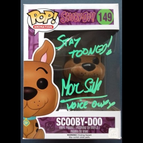 Scooby Doo Flocked #149 Pop Signed By Marc Silk