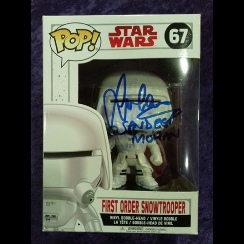 First Order Snowtrooper Funko Pop Signed By Sandeep Mohan