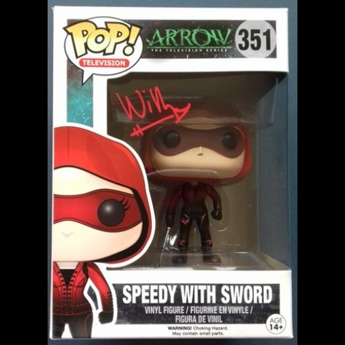 Speedy with Sword #251 Pop Signed By Willa Holland