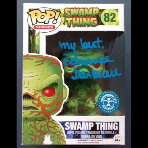 Swamp Thing Flocked & Scented Pop Signed By Adrienne Barbeau