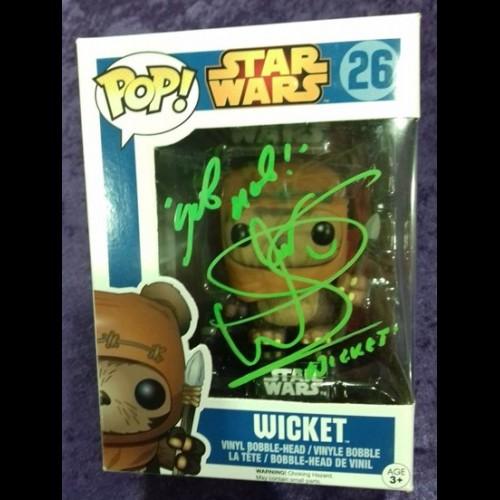 Wicket Funko Pop #26 Signed By Warwick Davis
